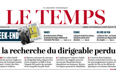 "Polarquest makes front page of ""Le Temps"""